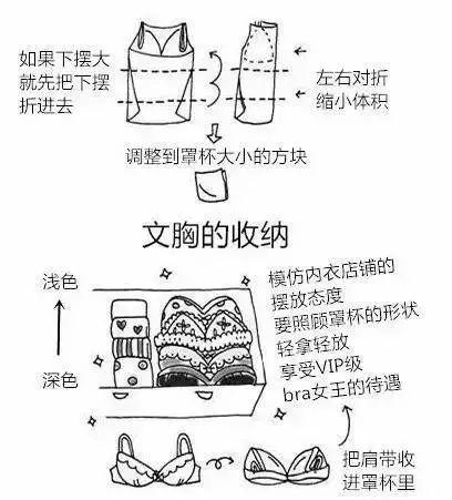 吊带衫折叠法
