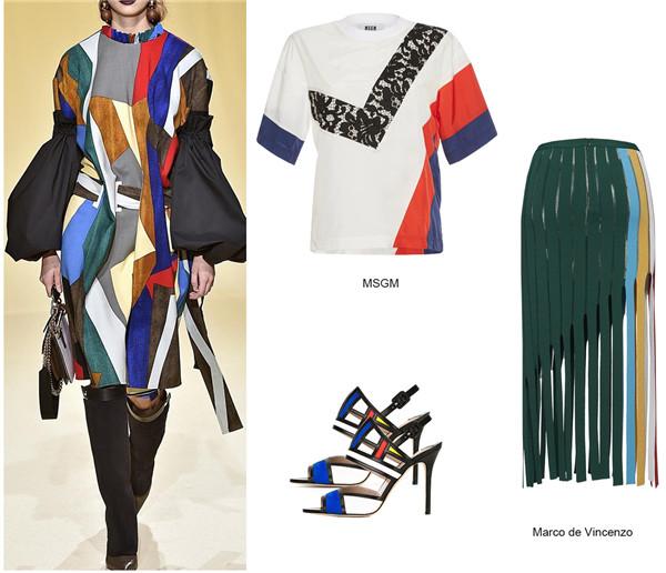 2017春夏女装流行搭配 几何美学