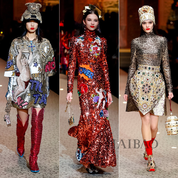 Dolce&Gabbana 2018秋冬米兰女装秀(图6)