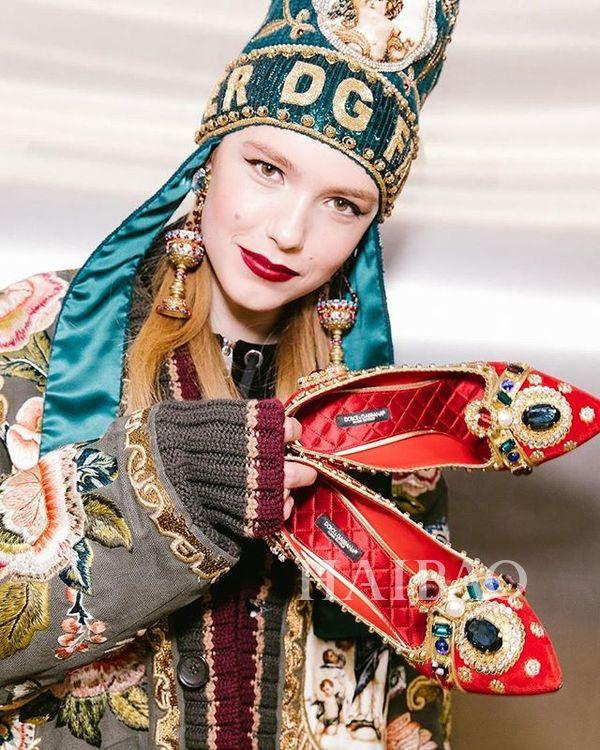 Dolce&Gabbana 2018秋冬米兰女装秀(图17)