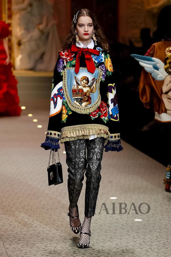 Dolce&Gabbana 2018秋冬米兰女装秀(图51)
