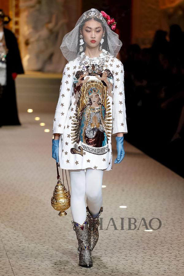 Dolce&Gabbana 2018秋冬米兰女装秀(图82)