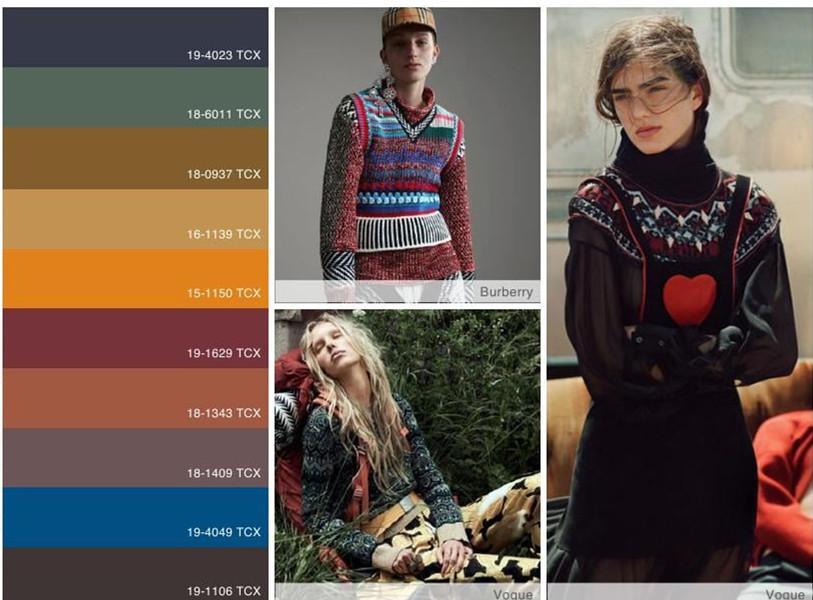 带有乡野气息的奇幻之地 vs 游牧民俗:2018/19秋冬女士针织服装设计